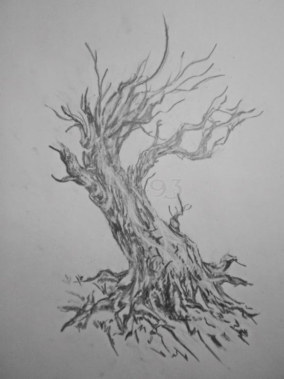 Рисунок дерево мертвое