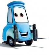 Голубая машинка из тачек